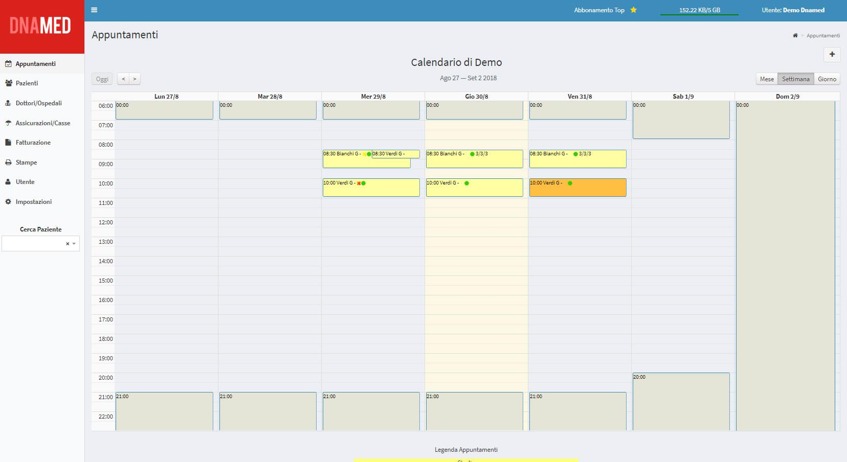 Calendario Svizzero.Software Gestionale Per Terapisti Con Fatturazione
